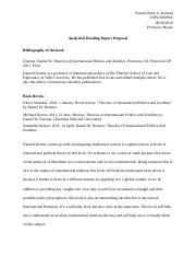 Analytical Reading Report Proposal