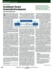 Investments Toward Sustainable Development
