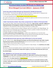 West Bengal Current Affairs 2018 by AffairsCloud.pdf