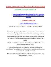 Study Aid Ecology Disruption Of A Marine Food Web Worksheet Study