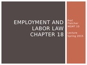 Chapter 18 Labor Law Lecture Slides