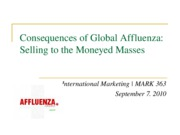Global Affluenze 2nd Lecture 9.2010