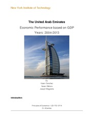 Research paper: The United Arab Emirates