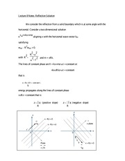 Lecture 8 Notes Reflection Solution