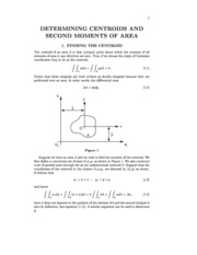 F_DETERMINING CENTROIDS AND SECOND MOMENTS OF AREA