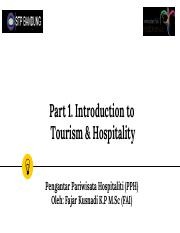 Part 1 Introduction to Tourism & Hospitality