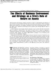 Selling & Stickney - Effects of Business Environment and Strategy on RoA(1).pdf