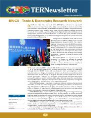TERNewsletter-BRICS-Trade_and_Economics_Research_Network