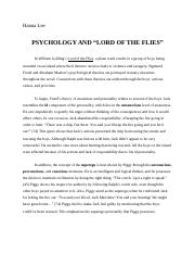 Psychology and Lord of the Flies