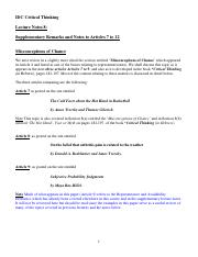 Lecture Notes 8 on Section 8 and Articles 7, 8  9