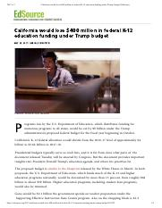 California would lose $400 million in federal K-12 education funding under Trump budget _ EdSource.p