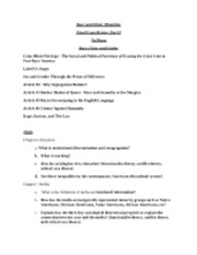 Race&Ethnic Minorities_Final Exam_Study Guide