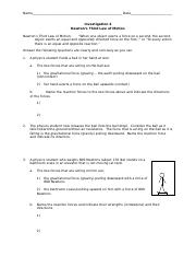 Investigation 4 - Newton's Third Law of Motion