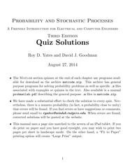 Quiz Solutions, 3rd Edition