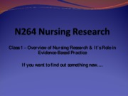 nursing research lecture 1