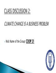 Class Discussion 2