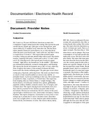 Shadow Health Gastrointestinal Documentation.docx