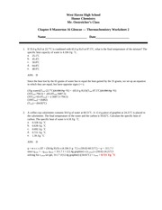 Chapter 8 Masterton 16 Glencoe Worksheet 2 w answers