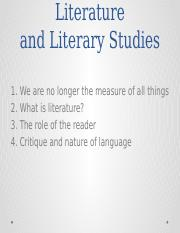 Introduction to Literature and Literary Studies.pptx
