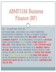 ABMF3184 Business Finance (BF) (1)