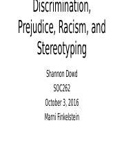 chapter 5 stereotypes prejudices racism Prejudice and discrimination chapter 5  prejudice, inequality, and stereotyping  prejudice & racism at the office and workplace .