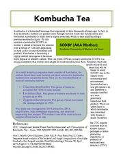 kombucha fact sheet