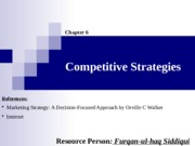 06. Competitive Strategies