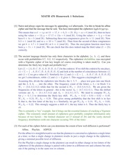 Homework 1 Solution Spring 2015 on Number Theory