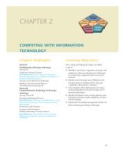 Chapter 2 notes Competing With Information Technology