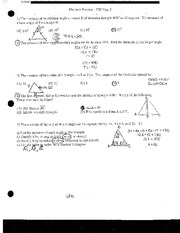 Triangle Angle Measures Test Review