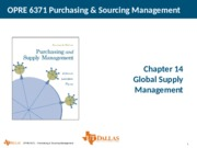 Ch14 Global Supply Management
