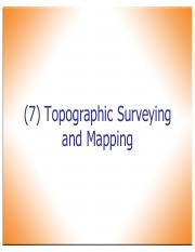 8-Topographic Surveying and Mapping