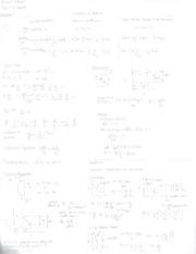 Exam 3 Equation Sheet
