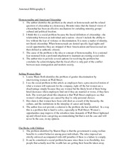 annotated bibliography about the american dream Thesis-this paper shall make use of two readings, the american dream does not exist (warshauer) and the american dream still exists (johnson), and shall.