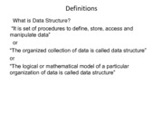 1) Introduction To Data Structure