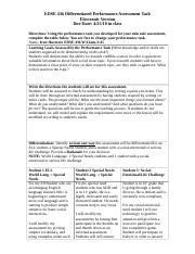 EDSE 436 Differentiated Performance Assessment Task-2-2.docx