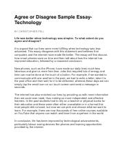 Best English Essay Agree Or Disagree Sample Essay  Agree Or Disagree Sample Essaytechnology  By Christopher Pell Comments Life Was Better When Technology Was Simpler To Essay On Global Warming In English also After High School Essay Agree Or Disagree Sample Essay  Agree Or Disagree Sample  Essay On High School Dropouts
