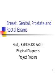 PD Breast Pelvic Prostate and Rectal Exams