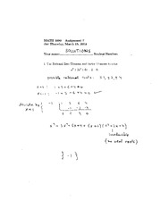 MATH 1090 Winter 2012 Homework 7 Solutions