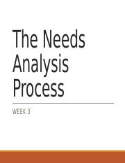 Week 3-Needs Analysis Process