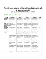RUBRIC -Wk 3 Olnine Discussion Prompt and Rubric.doc