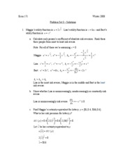 Winter 2008 - Newhouse's Class - Problem Set 3