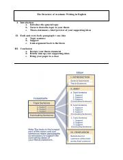 The Structure of Academic Writing in English, two models on one handout.pdf