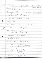Integrating Functions Lecture Notes