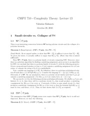 CMPT 710 Small Circuit Notes