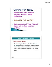 Day 13 power point slides (Time Value of Money part 1)(1)