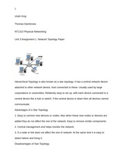 Unit 3 Assignment 1 Network Topology Paper