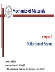 Chapter (9) Beam deflection