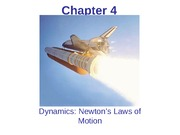 Chapter 4 Dynamics Newton's Laws of Motion