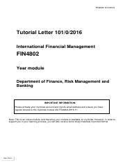 rsk4801 assignment 1 Rsk4801 department of finance, risk management and banking operational risk management rsk4801 topic 3: operational risk management modelling unisa po box.